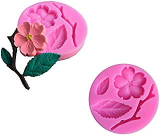 JD Million shop 3D Food-grade Silicone Mold Peach Blossom Cake Decorating Tool Chocolate Candy
