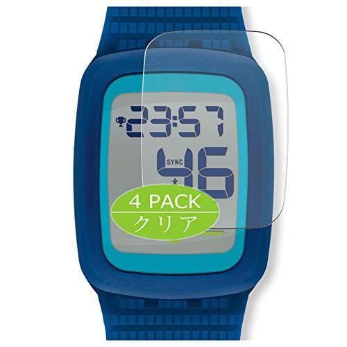VacFun 4 Piezas HD Claro Protector de Pantalla para Swatch Touch Zero Two SVQB100, Screen Protector Sin Burbujas Película Protectora (Not Cristal Templado)