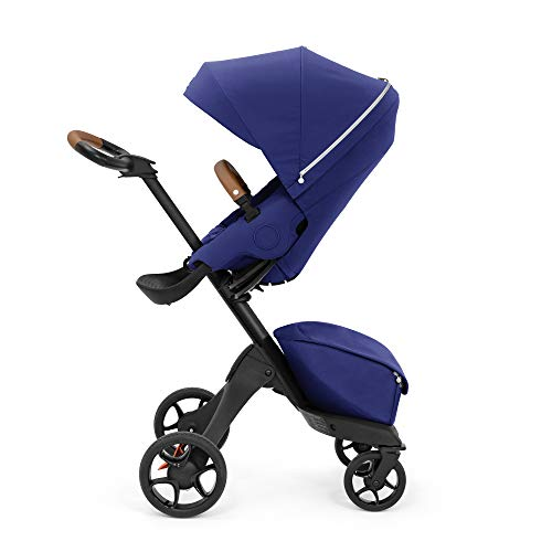 Stokke Xplory X, Royal Blue - Luxury Stroller - Adjustable for Both Baby & Parents' Comfort - Padding, Harness & Reflective Zipper for Added Safety - Folds in One Step