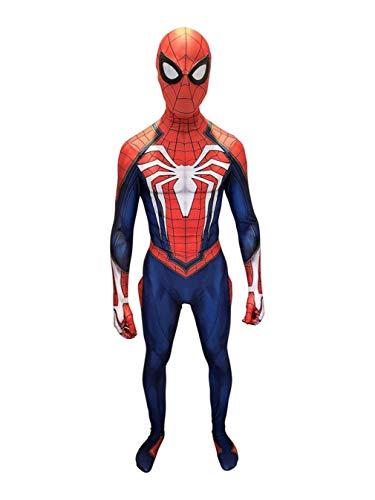 COSPLAY Disfraz de Spider-Man Traje ajustado de cuerpo completo con máscara, version Spider-Man PS4 (L)