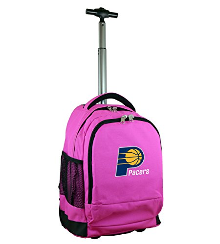 Denco NBA Indiana Pacers Wheeled Backpack, 19-inches, Pink