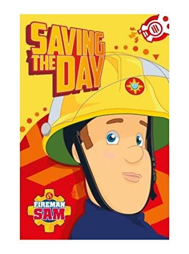 Theonoi Kinder -Handtuch/Gesichtstuch/Gästetuch- Set - tolles Gechenk Fireman Feuerwehr Sam 100% Baumwolle Öko Standard 100- (Sam 03)