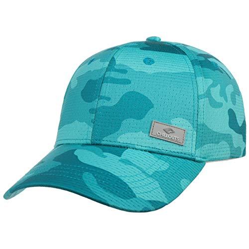 CHILLOUTS Kampala Camouflage Cap Basecap Baseballcap Curved Brim (One Size - türkis)