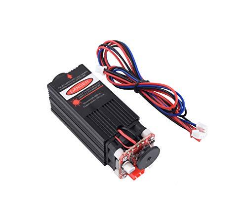 Mostics 5.5W 450nm blaues Lasermodul Holzstich Teile PWM TTL Steuerung Laserdiode Kraft einstellbar Fokussierbar für CNC-Fräsmaschine CNC DIY Graviermaschine 5500mw (5.5W)