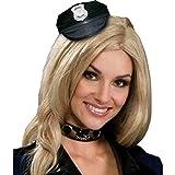 Forum Novelties Women's Mini Police Hat Party Supplies, Standard, Black