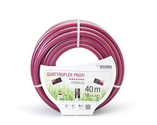 """REHAU Premium-Gartenschlauch QUATTROFLEX Profi für professionelle Anwendungen, kein abknicken, kein verdrehen, extrem druckfest, 19mm (3/4\"""") 40m"""