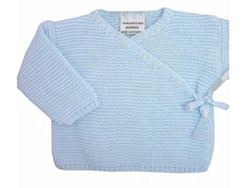 BRASSIERE maternité bebe, idee cadeau naissance, uni cache coeur (0 mois, bleu)
