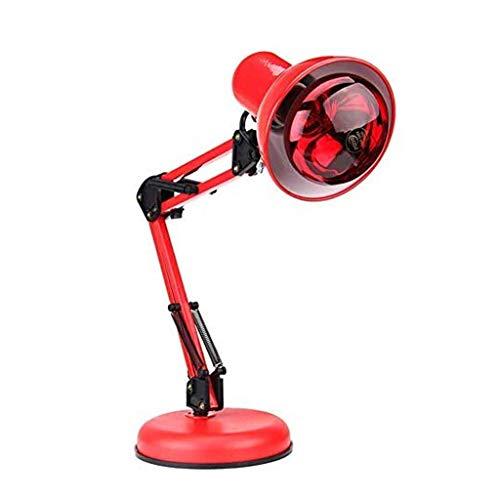 Infraroodlamp, 100 W, infraroodlamp, opvouwbaar, infrarood-warmtelamp, in hoogte verstelbaar, infrarood-lichttherapie-lamp voor diepe effectieve halfronde behandeling bij spierpijn