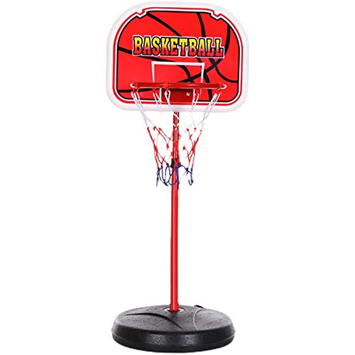 ZZLYY Canasta Baloncesto Infantil Juguetes para Niños,120-210cm Altura Ajustable, Mini Aro De Baloncesto con Pelota Juguete Deportivo para Niños Más De 3 Años,120cm