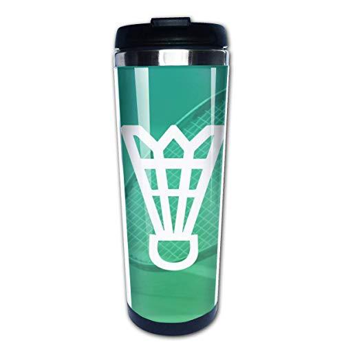 Taza de café de viaje Reservas de bádminton Taza de café con aislamiento de acero inoxidable Botella de agua deportiva 13.5 oz (400 ml) MUG-8087