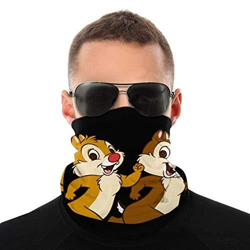 Chip and Dale Variety Head Scarf Neck Warmer Bandanas Outdoors Headwear Scarf Neck Gaiter Bandanas for Men and Women Bandana