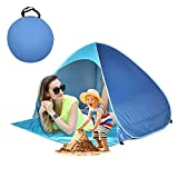 Pop Up Beach Tent, Quick Instant Automatic Portable Anti UV Sun Shelter Tents Fit 1-2 Persons for Outdoor Camping, Fishing, Park Picnic Baby Beach Tent (Blue-Blue)