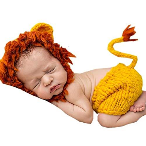 Recién Nacido del bebé Hecho a Mano Animal Style Apoyo de la Foto Vestimenta Foto Ropa de bebé Ropa Photo Lana de Punto de Ganchillo Vestido de Fotografía