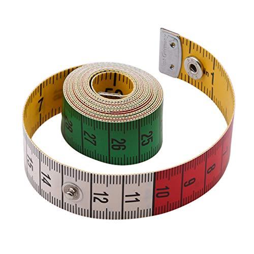 KUHRLRX Maßband Schneidermaßband, Bandmaß 150cm Umfangmaßband Schneiderbandmass Maßtuch Lineal Doppelseitige Taste Körper Maß Farbe Lineal Nähwerkzeug