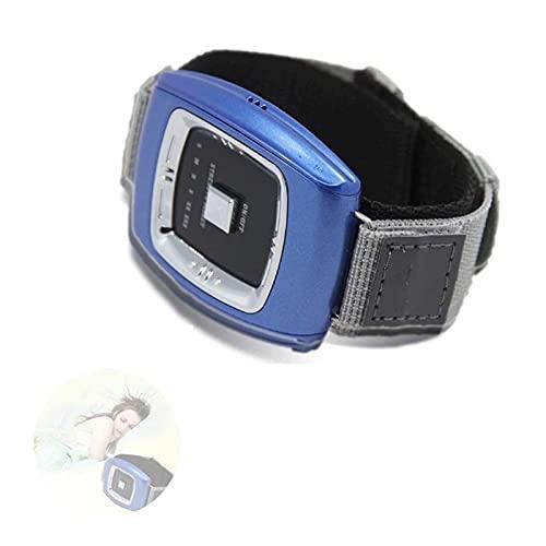 GJXJY Muñequera Antirronquidos Dispositivos, Anti Ronquidos Pulsera con 3 Modos y 6 Engranaje Ajustable, USB Recargable Reloj Antirronquidos para Mujeres Y Hombres