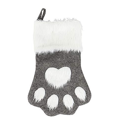 Fascigirl Calcetín navideño Media del partido Creativo Bolso lindo del regalo de la pata del perro...