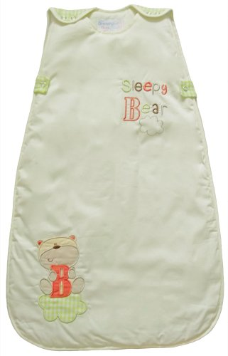 The Dream Bag SB02 Unisex Sleepy Bear Baumwolle Baby Schlafsack, 0-6 Monate, 2.5 Tog, 70 cm, creme