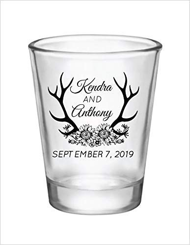 wedding shot glasses rustic wedding Country wedding favors wedding favors personalized 1.75oz shot glasses,