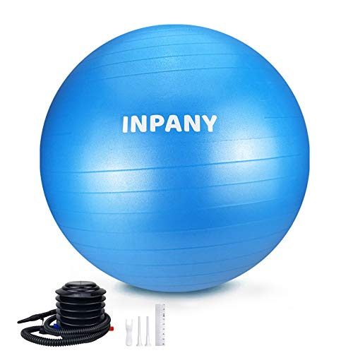 Exercise Ball4585cm  Extra Thick Yoga Ball Chair AntiBurst Stability Ball Supports 2200lbs Birthing Ball with Quick Pump for Office amp Home amp Gym