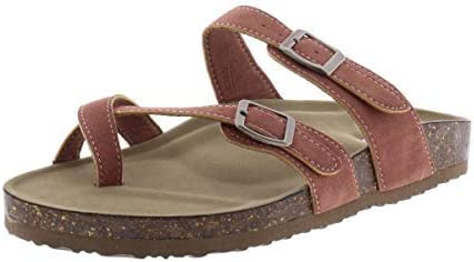 Madden Girl Womens Bryceee Camouflage Padded Insole Slide Sandals