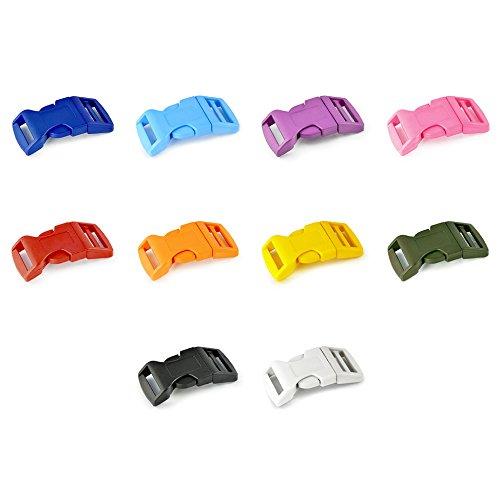 5/8'' fermeture à clic, Boucle Fermeture, pour bracelets paracord, 20 piéces set