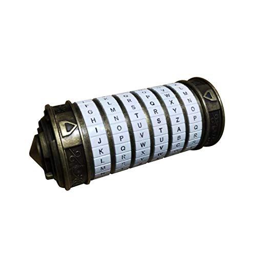 PANYUE Da Vinci Code Lock Metal Cryptex Locks Alfabeto Senha Cilindro, Presente de Dia dos Namorados, Presente romântico de Aniversário para ela ou para ele