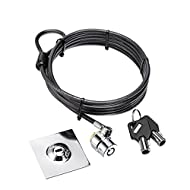 COCODE Laptop Cable Lock Tablet Security Lock Anti-Theft Security Hardware Cable Lock Kit with 6.5 Foot Sturdy Cable Two Keys 3M Adhesive Disk for Notebook, PC Laptops, Cell Phones and Projectors