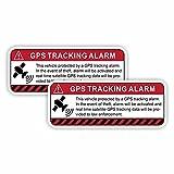JKGHK 2 pegatinas de coche GPS de seguimiento de alarma de advertencia...