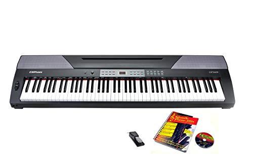 Stage Piano DP 2600 von Clifton mit Notenbuch und Karaoke-CD, Sustain Pedal