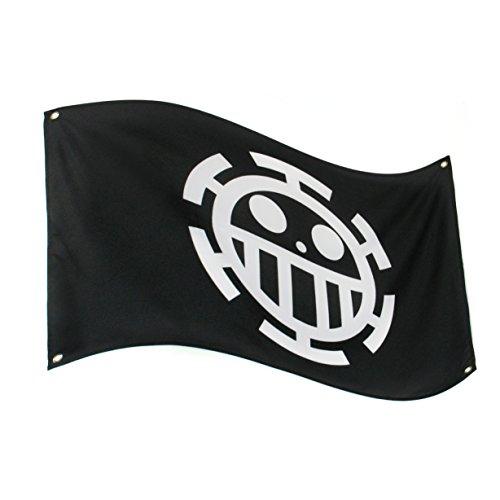 papapanda Bandera pirata de One Piece, Anime Trafalgar Law