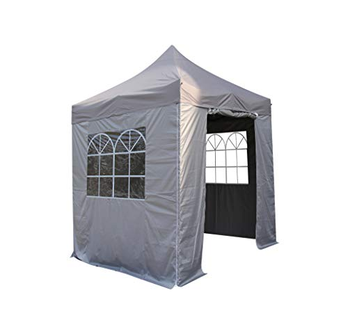 All Seasons Gazebos, 2x2m Heavy Duty, Fully Waterproof, PVC Coated, Premium Pop Up Gazebo With 4 x 100% waterproof Side Panels (Same quality as the roof)
