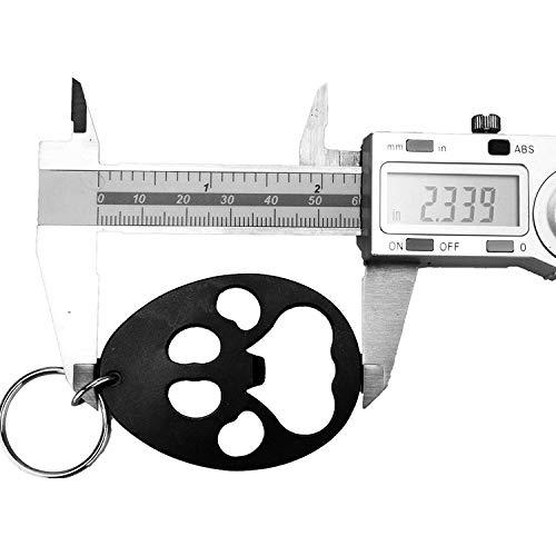 栓抜きボトルオープナー缶切りキーホルダーキーリング付き小型軽量アウトドキャンプTEMLUM(肉球)