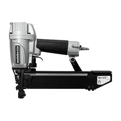 Metabo HPT Pneumatic Stapler, 1/2-Inch Staples, 16 Gauge, Standard Crown, 3/4-Inch to 2-Inch in Length, Cylinder Valve Driving Mechanism (N5010A)