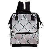 TIZORAX Wickel-Rucksack mit Kette und Zaun, große Kapazität, multifunktional, Wickeltasche, Reiserucksack für die Babypflege
