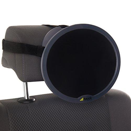Hauck Watch Me 1 Rücksitzspiegel für Babys im Auto, Spiegel für die Rücksitzbank, Rückspiegel Baby Autospiegel, schwarz, 21 x 19 cm