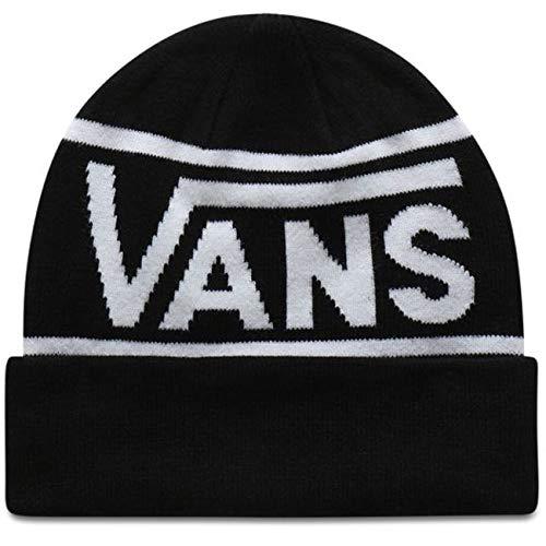 Vans Gorro (Beanie) Drop V Stripe Cuff Negro OSFA (Talla única para...