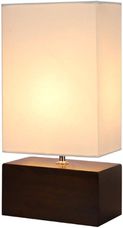 AIMIXU Kreative Tischlampe europischen minimalistischen Massivholz Moderne dekorative Tischlampe Holzsockel Tischlampe Nachtlicht