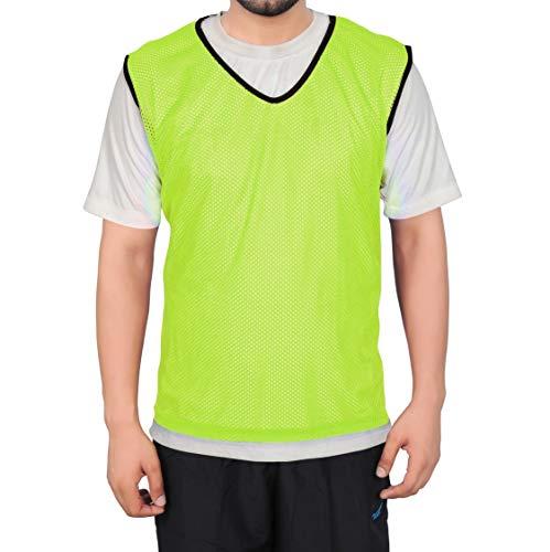 GSI Grand Sport Mesh Formation Bibs/dossards/Gathers/Gilets de Football, Basket-Ball, Football, Volley-Ball et Autres Jeux d'équipe Jaune Lot de 6