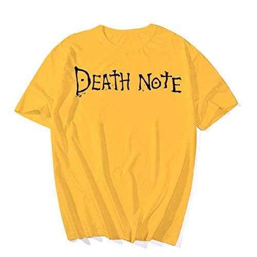 Hombres Mujeres Death Note Logo Camiseta Verano Top Casual Camiseta de Manga Corta Hip Hop Camisetas Tops Streetwear