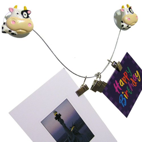 Wrapables Animal Photo/Memo Clip Cable System - Cow