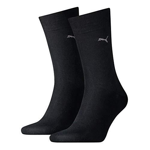 Puma Classic 2P Chaussettes de Sport Homme, Noir (Black 200), 43/46 (Taille fabricant:043) (Lot de 2)