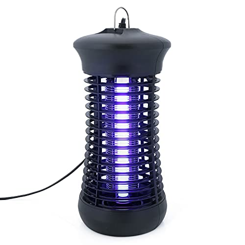 U.S. Solid Electric Bug Zapper Mosquito Killer for Indoor Wide Coverage Protection, 6W Powerful Flying Insects Trap with 1200V High Voltage Electric Grid for Bedroom, Living Room, Kitchen