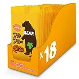 BEAR - Snack hecho al 100% de pura fruta en forma de rollito MANGO - Pack de 18 x 20 g, Sin Azúcar Añadido, Sin Gluten, Vegano