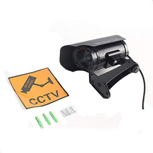 Falso simulado Cámara de alta simulación CCTV cámara falsa intermitente llevó luz roja seguridad casera batería Monitores