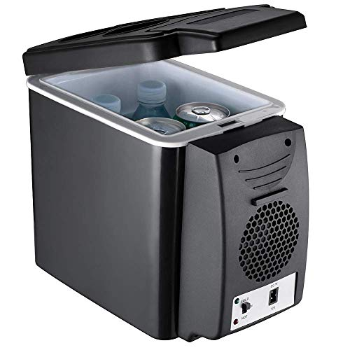 Cosméticos Fresco eléctrico Boxwith refrigeración y conservación de Calor, Coche 6L y el hogar Mini refrigerador, congelador de Silencio en el Dormitorio de Camping, 45W-Negro kshu (Color : Black)