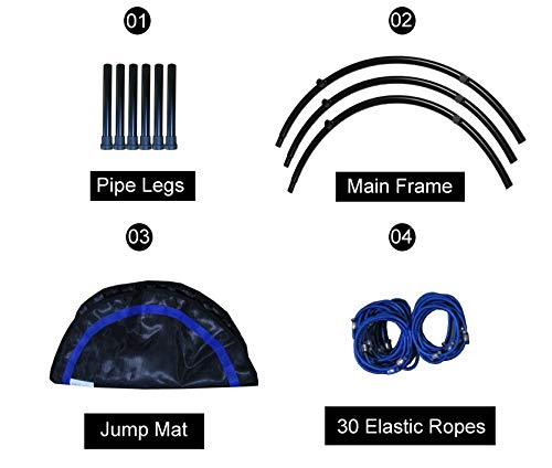 CASTOOL-40-Ultra-Quiet-Fitness-Mini-Trampoline-Without-Adjustable-HandleSafe-Elastic-Band-Indoor-FitnessHome-Workout-Cardio-Training-for-Adults