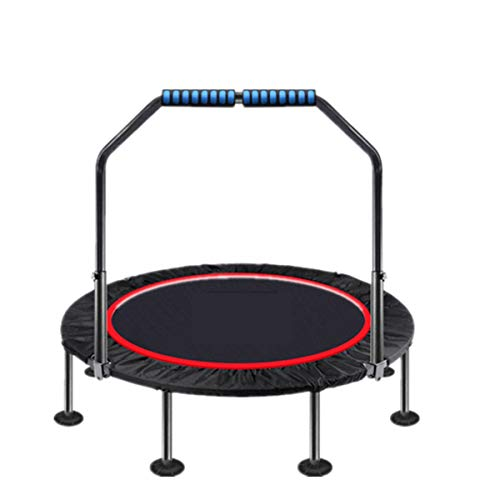LZZJ Bar Fitness Trampoline Cebañador Jumping Ejercicio Mini Trampoline Ceboundder para niños/Adultos Gimnasio Interior Mini Trampoline Cebounder (Color : 40inch with Handle)