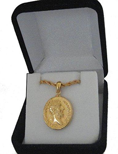 Golden Artifacts Marcus Aurelius und Elefant, Philosoph König, berühmtester römischer Münzenanhänger und Kette, Römisches Reich (26PC-G)