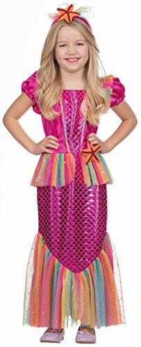 Rubies 12233-116 - Disfraz de Sirena para niña, Color Rosa