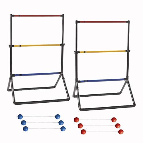 Franklin Sports Ladder Ball Set - Golf Toss Set Includes 2 Ladder Ball Targets with Weighted Base and 6 Bolas, One Size (53100)